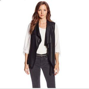 Karen Kane black waterfall vest, XL